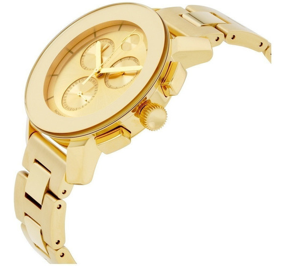 Relogio Movado Bold Chronograph Gold Sunray Dial Unisex