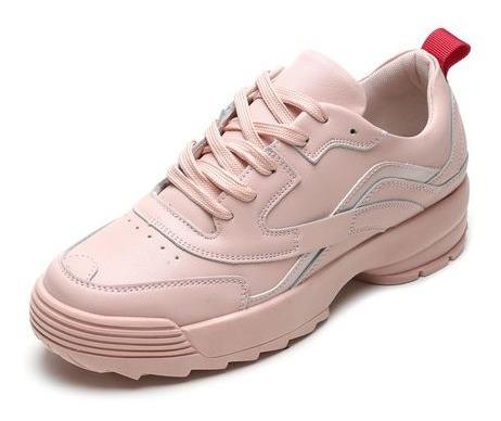 Tênis Feminino Mooncity Casual Chunky Pink-52191