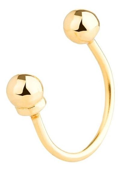 Piercing De Orelha Bolinha Ouro 18k - 750