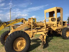 Motoniveladora Caterpillar 112 Y Excavadora 215 Trabajando