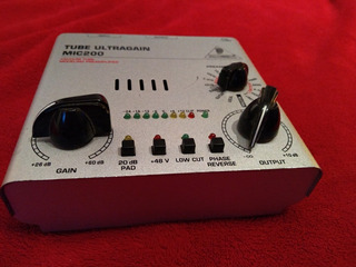 Behringer Tube Ultragain Mic200 Preamplificador Sin Transfor