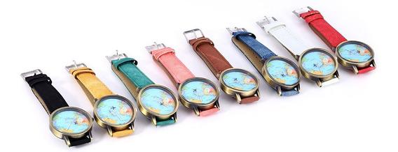 Lote 20 Relojes Mapamundi Mayoreo + Envio Gratis