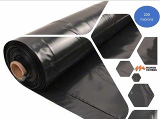 Nylon Negro Agropol 200 Micrones 4x50mt Para Retirar