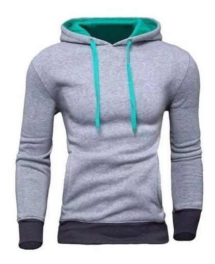 Sweater / Sueter Slim Fit Capucha Combinada