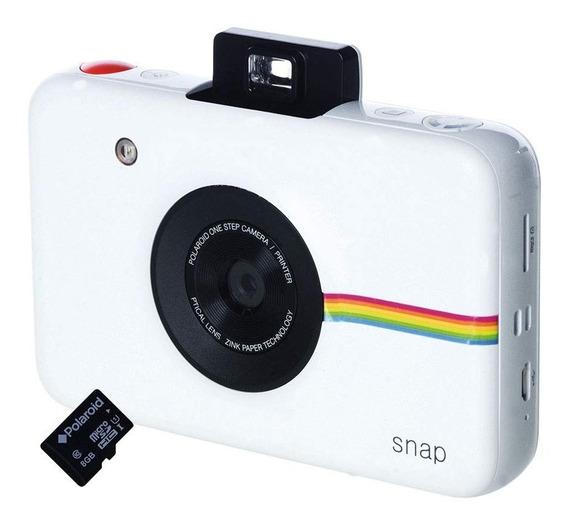 Câmera Digital Impressão Instantânea Snap Polaroid Branca