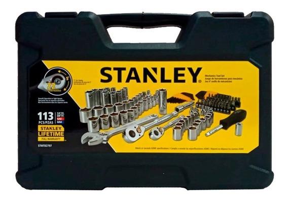 Juego Mecánico De 113 Piezas Stanley Stmt82797