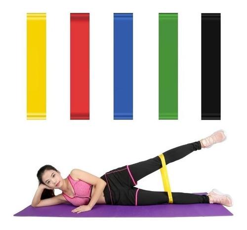Kit De 5 Bandas Ligas De Resistencia Para Ejercicio Yoga