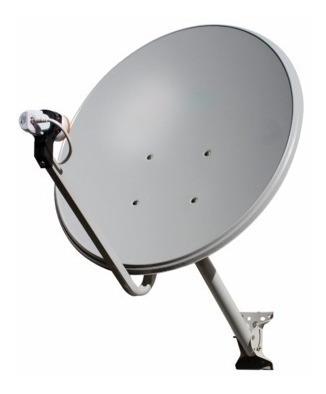 Kit 2 Antenas Ku 60cm Completa Lnb Cabo Conector Tapa Furo