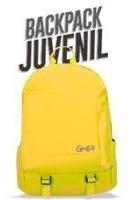 Mochila Backpack Ghia 15.6 Color Amarillo 3 Compartimientos