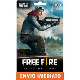 Free Fire 100 Diamantes - Recarga P/ Conta +10% Bônus