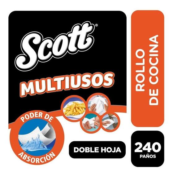 Rollo De Cocina Scott Multiusos 240 Paños X 3 Rollos