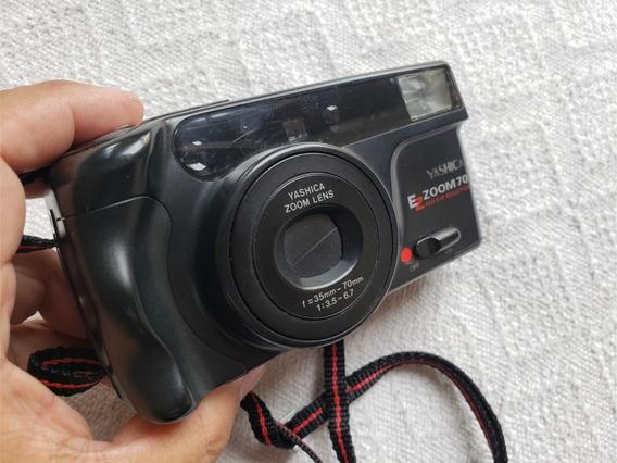 Câmera Yashica Ez Zoom 70 Funcionando Leia O Anuncio