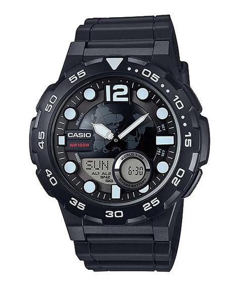 Relógio Casio Original Aeq-100w-1avdf