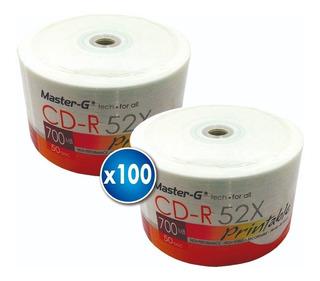 2 X Torta 50 Uni. Cd Imprimible Master-g 52x 700mb 80 Min