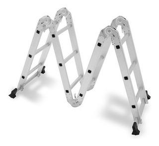 Escada Multifuncional Dobrável Alumínio Multiuso 4x3 Pro Mor