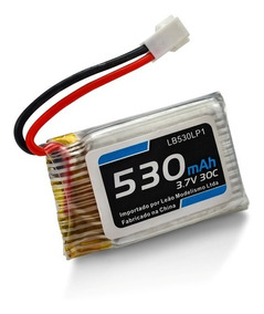 Bateria Lipo - 3.7v - 1s - 530mah - 30/60c Mini Drone Heli