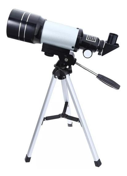 Telescópio Astronômico Refrator F30070m Hd Com Tripé
