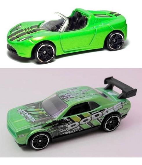 Hot Wheels Tesla/dodge Charger C/2 Miniaturas 1/64 Lacradas