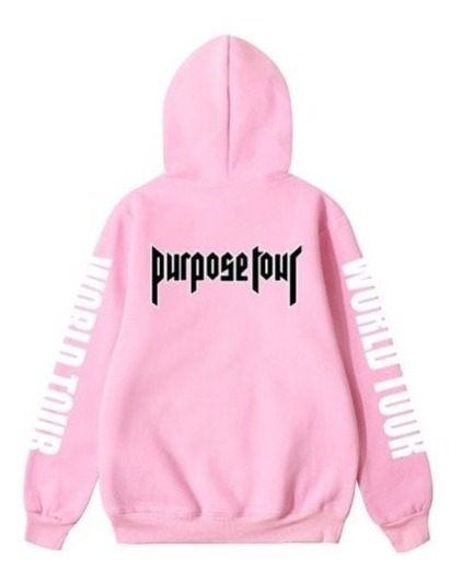 Justin Bieber Purpose Tour Hoddie Sudadera World Tour Rosa