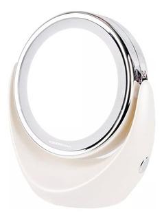 Espejo Doble Con Aumento 1x 5x Touchbeauty Tb0678 Anillo De Luz Led Para Maquillaje
