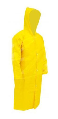 Imagem 1 de 1 de Capa De Chuva Pvc Amarela Com Forro Epi Impermeável Capuz