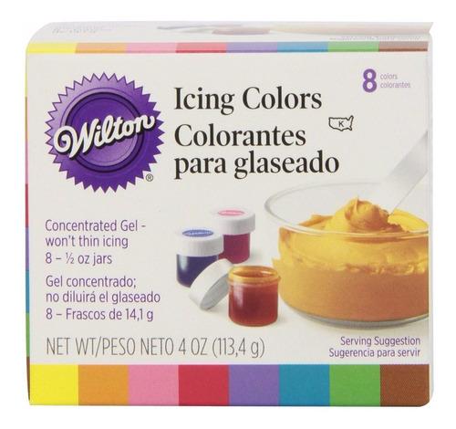 Imagen 1 de 1 de Set De 8 Colorantes P/ Glaseado P/ Reposteria. Wilton