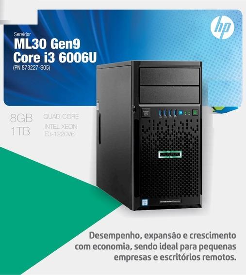 Hp Servidor Proliant Ml30 Gen9 E3-1220v6 8gb Ram Ddr4 Hd 1tb