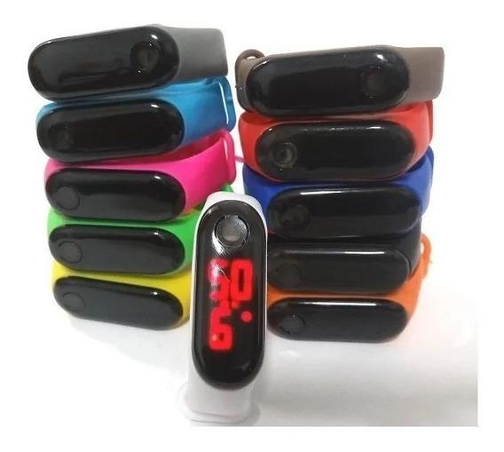 Kit 5 Relógios Led Digital Sport Bracelet Silicone Pulseira
