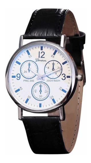 Relógio Geneva Unissex Pulseira Couro Pu