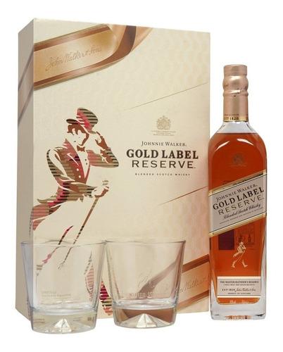 Imagen 1 de 5 de Whisky Johnnie Walker Gold Label Reserve 750ml C/2 Vasos