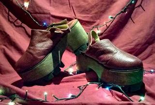 Zapatos Cerrados Bordo Tipo Sandalia. Talle 38