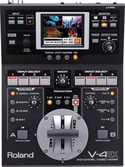 Mixer De Video Roland V-4ex 4 Canais Switcher Streaming