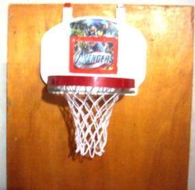 Aro Basket Tablero Todo Plastico Para Niños Los Vengadores