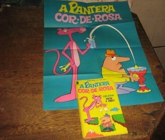 Diversões Juvenis Nº 10 Pantera Cor De Rosa 1974 Com Poster