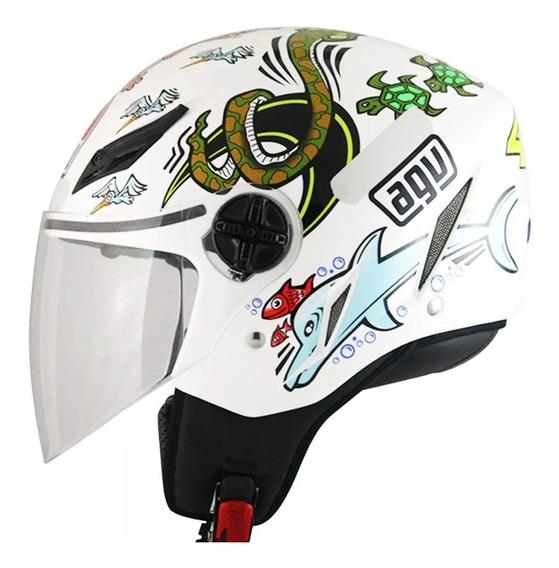 Capacete Agv Blade White Z00 Valentino Rossi