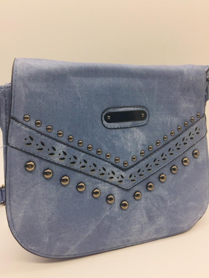 Bolsa Feminina Jeans Ombro Média Importada Promoção Cfm134