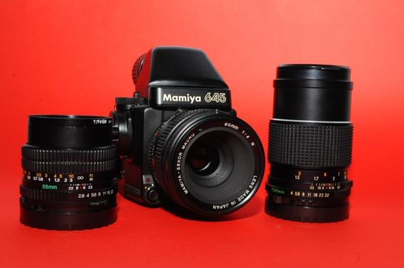 Mamiya 645 M645 Super + 55mm F2.8 150mm F4 E 80mm F4 Macro!!