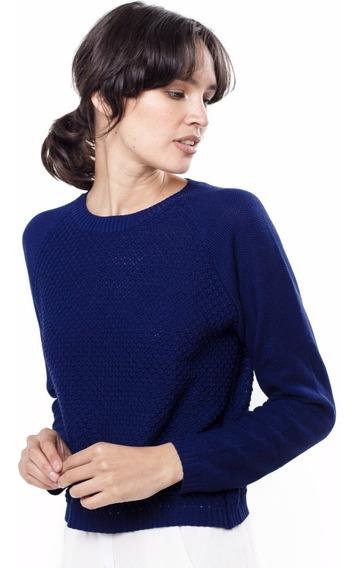 Sweater Tejido Azul Manga Larga Apica Giacca
