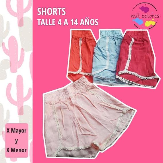 Short Nenas Modal Fibrana Puntilla Pantalones Cortos Oferta