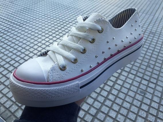 Zapatillas Altas Con Tachas De Mujer Prince