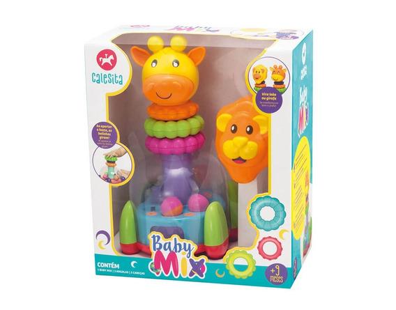 Brinquedo Educativo Didático Baby Mix Calesita 2 Cabeças