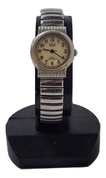 Relógio De Pulso Feminino Dumont Prateado.