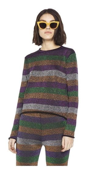 Sweater Herr Lurex Cuello Redondo Mujer Complot