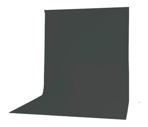 Fundo Infinito Fotográfico Tecido 3,00m X 1,68m Cinza