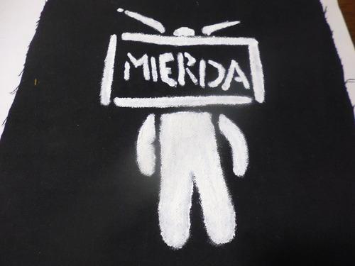 Parche Artesanal Televisión Pintado A Mano