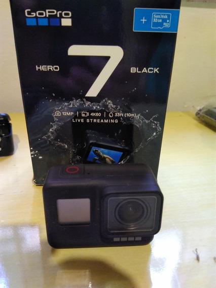 Gopro Hero 7 Black + Cartão 64gb + Suporte Peitoral
