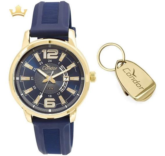 Kit Relógio Condor Masculino Co2115yg/k8a Garantia E Nf Full