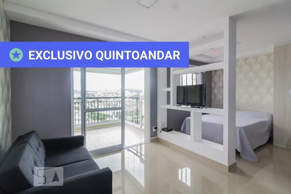 Studio No 14º Andar Mobiliado Com 1 Dormitório E 1 Garagem - Id: 892987695 - 287695