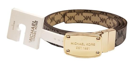 Cinturón De Piel Original Michael Kors Mk Tallas M Y L