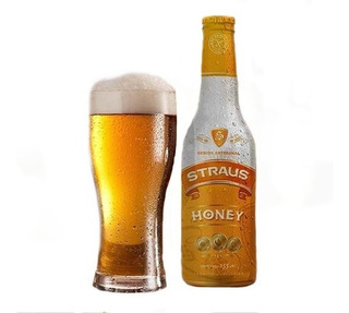 Pack X12 Cerveza Sin Gluten Straus Honey X 335ml Sin Tacc